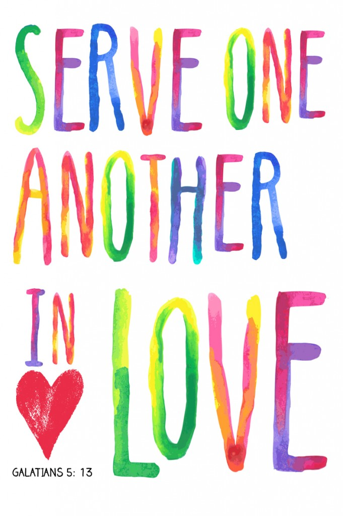 Serve one another in love. #YourBeautifulHeart Lauren Scruggs