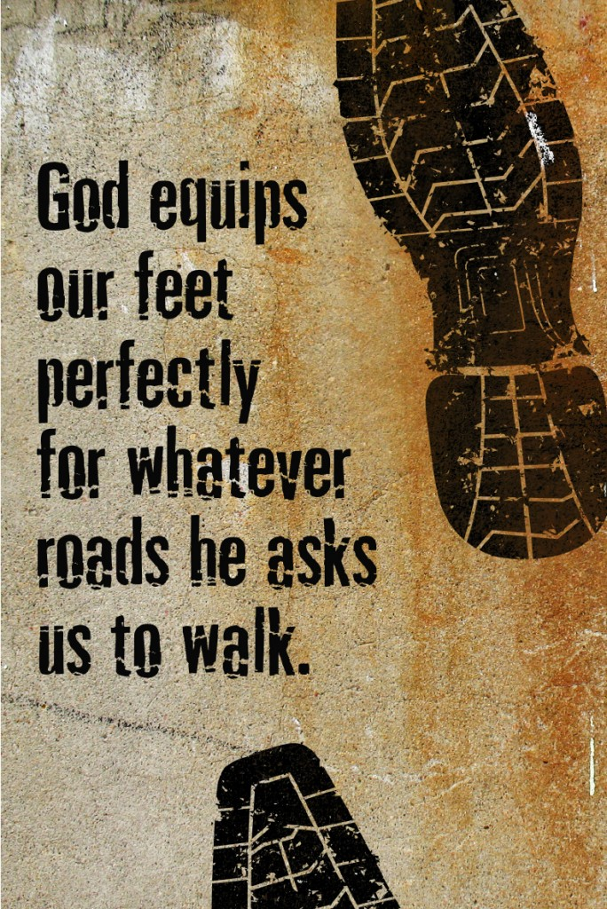 God equips our feet perfectly for whatever roads he asks us to walk. #YourBeautifulHeart Lauren Scruggs