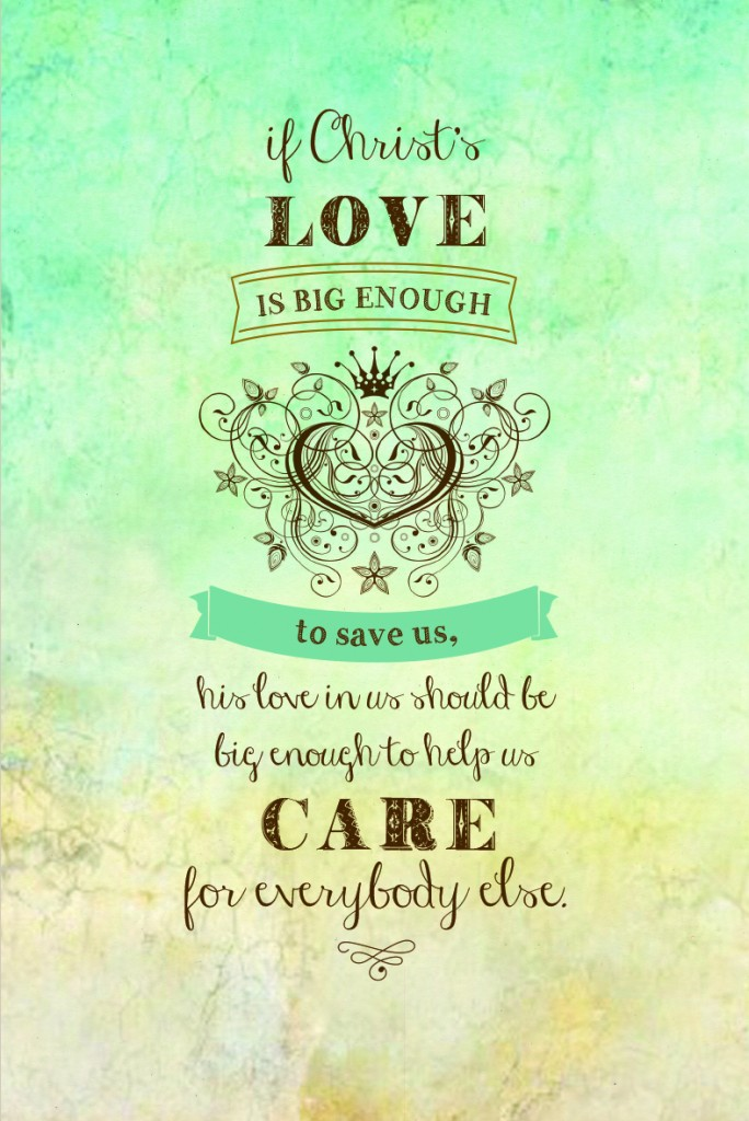 If Christ's love is big enough to save us... #YourBeautifulHeart Lauren Scruggs