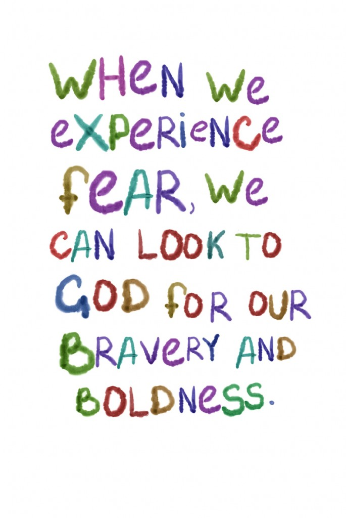 When we experience fear, we can look to our God for our bravery and boldness. #YourBeautifulHeart Lauren Scruggs